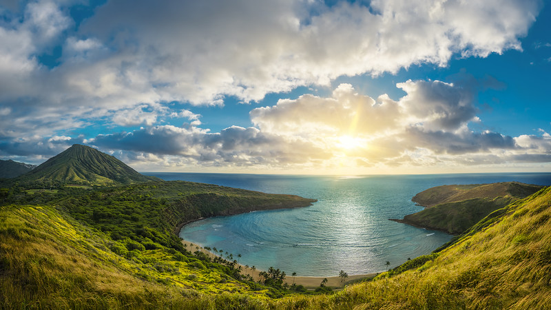 Shooting & Stitching Panorama - Hanauma Bay Rim Trail in Hawaii (Oahu)