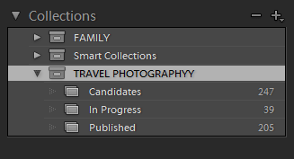 Lightroom Organization - Collections Based Organization System