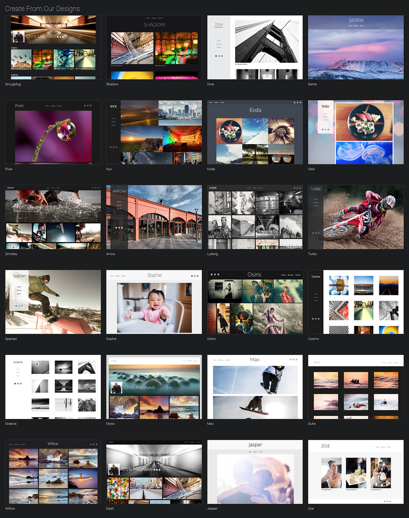 SmugMug has Beautiful Portfolio Designs